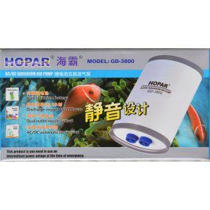 HOPAR AC/DC Automatic Lithium Battery Backup Aquarium Air Pump Twin Outlet 240L/H GD-3800